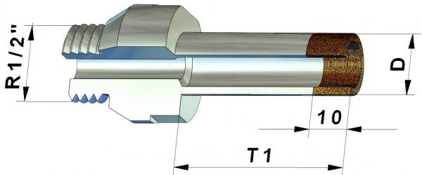 Diamond Core Drill for Glass D4 mm