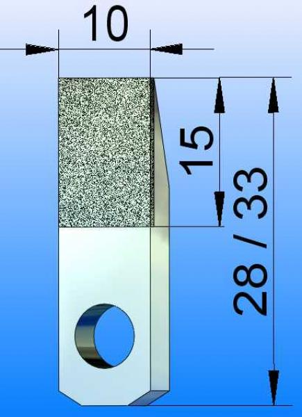Diamond Blade, 10x15 Active Surface, Wolfram Bond, Diamond Grit